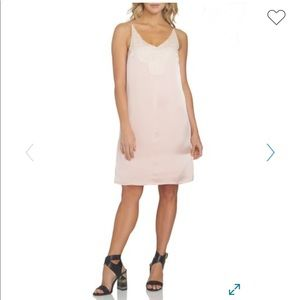 1.State Pink Lace Detail Slip Dress L NWT